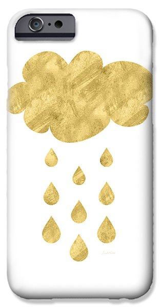 Rain Cloud- Art By Linda Woods IPhone Case by Linda Woods