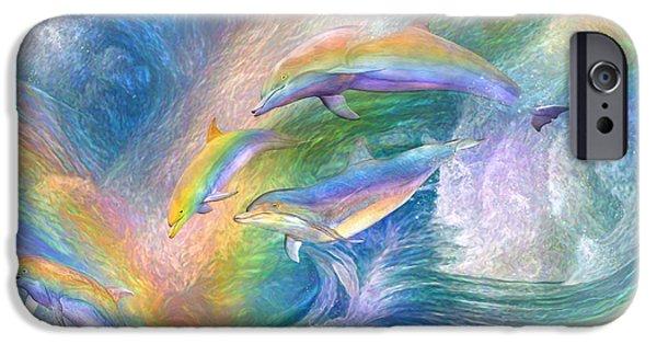 Rainbow Dolphins IPhone 6s Case by Carol Cavalaris