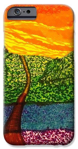 Rainbow Landscape  IPhone Case by Ishy Christine Degyansky