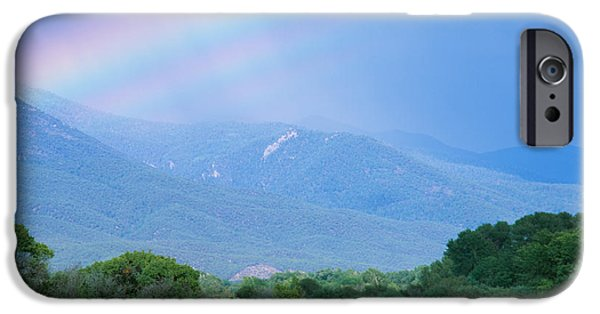 Rainbow Over A Mountain Range, Taos IPhone Case by Panoramic Images