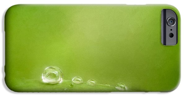 Raindrops On Green IPhone Case by Scott Norris
