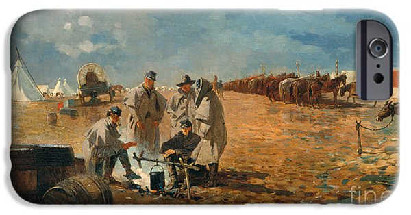 Rainy Day In Camp, 1871 IPhone Case by Winslow Homer