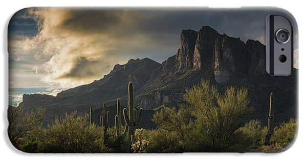 Rainy Day In The Superstitions  IPhone Case by Saija Lehtonen