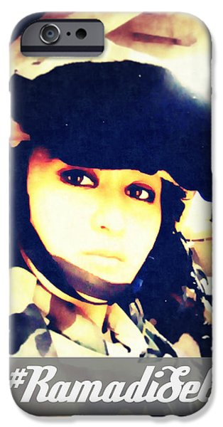 Ramadi Selfie IPhone Case by Michelle Dallocchio