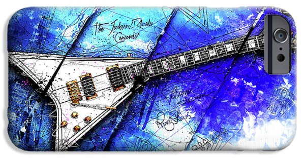 Randy's Guitar On Blue II IPhone 6s Case by Gary Bodnar