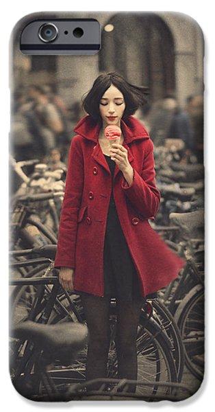 raspberry sorbet in Amsterdam IPhone Case by Anka Zhuravleva