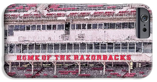 Razorback Stadium IPhone 6s Case by JC Findley