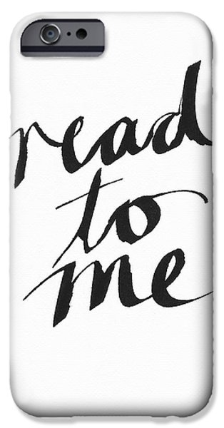 Read To Me- Art By Linda Woods IPhone Case by Linda Woods