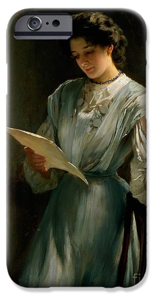 Reading The Letter  IPhone Case by Thomas Benjamin Kennington