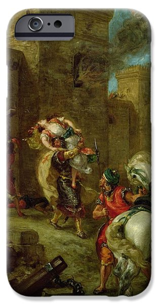 Rebecca Kidnapped By The Templar IPhone Case by Ferdinand Victor Eugene Delacroix