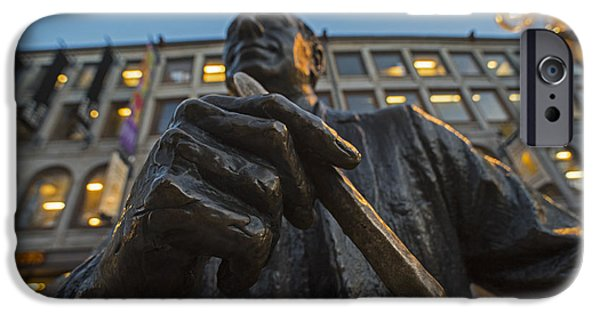 Red Auerbach Chilling At Fanueil Hall IPhone Case by Toby McGuire