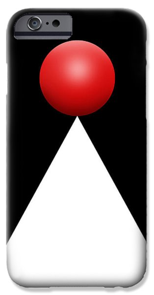 Red Ball 28b V IPhone Case by Mike McGlothlen