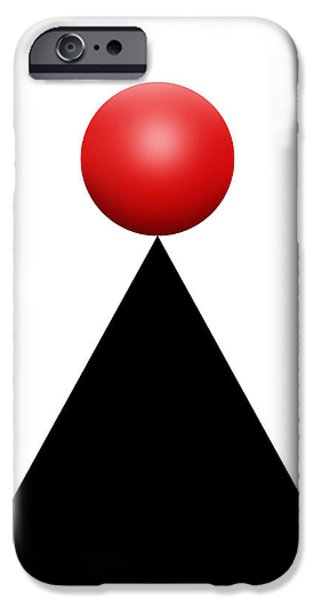 Red Ball 28c V IPhone Case by Mike McGlothlen