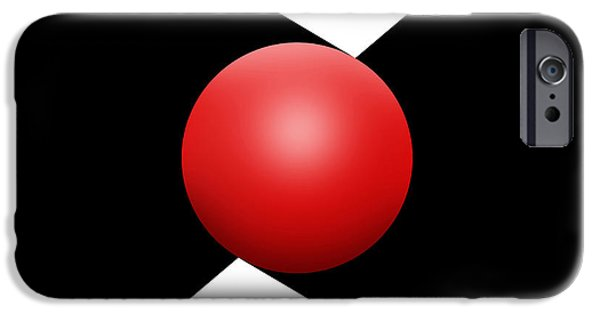 Red Ball S Q 1 IPhone Case by Mike McGlothlen
