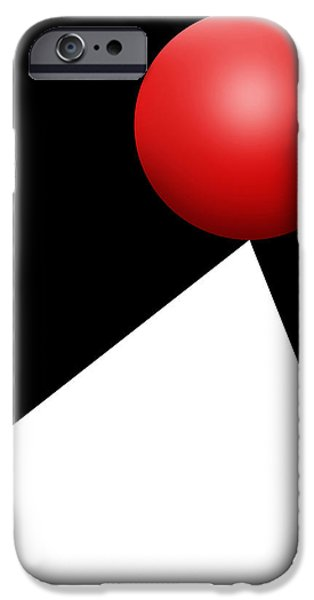 Red Ball S Q 10 IPhone Case by Mike McGlothlen