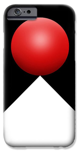 Red Ball S Q 3 IPhone Case by Mike McGlothlen
