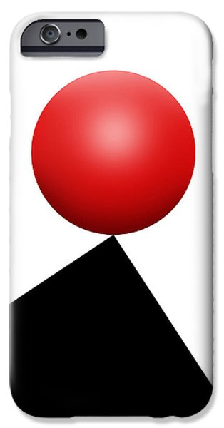 Red Ball S Q 6 IPhone Case by Mike McGlothlen