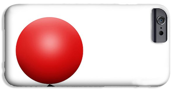 Red Ball S Q 7 IPhone Case by Mike McGlothlen