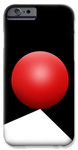 Red Ball S Q 8 IPhone Case by Mike McGlothlen