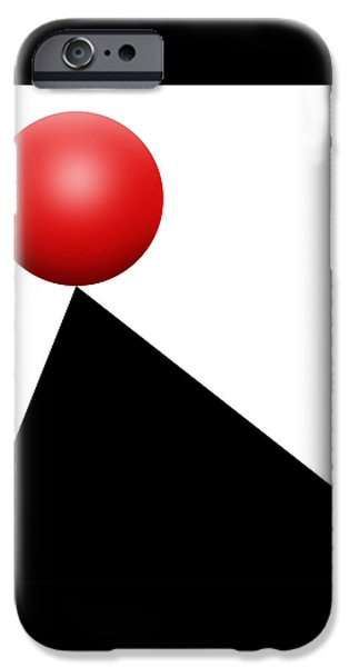 Red Ball S Q 9 IPhone Case by Mike McGlothlen