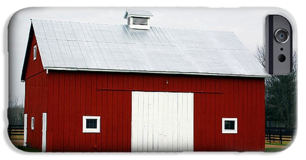 Red Barn- Photography By Linda Woods IPhone Case by Linda Woods