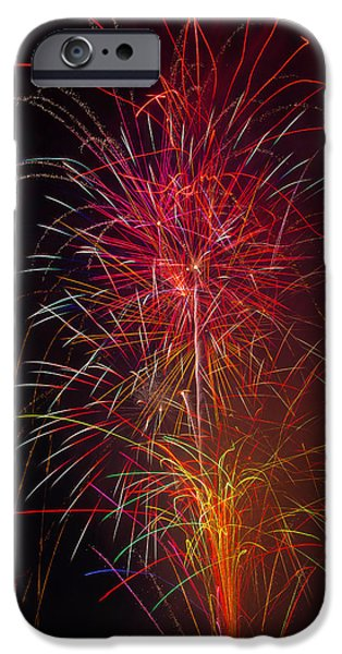 Red Blazing Fireworks IPhone Case by Garry Gay