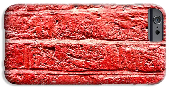 Red Brick Wall IPhone Case by Tom Gowanlock