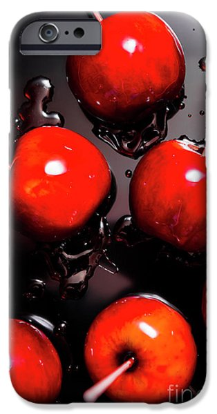 Red Candy Apples Or Apple Taffy IPhone Case by Jorgo Photography - Wall Art Gallery