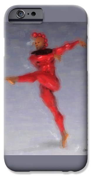 Red Dancer IPhone Case by Quim Abella
