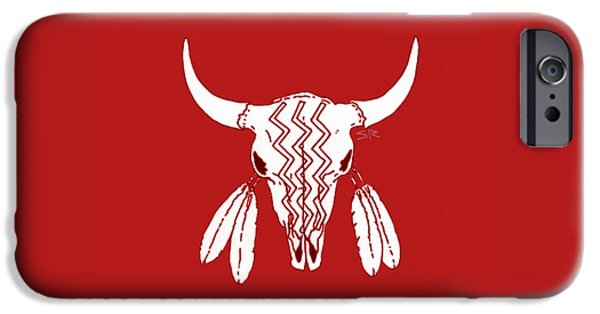 Red Ghost Dance Buffalo IPhone 6s Case by Steamy Raimon