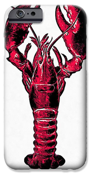 Red Lobster IPhone Case by Edward Fielding