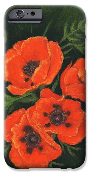 Red Poppies IPhone Case by Anastasiya Malakhova