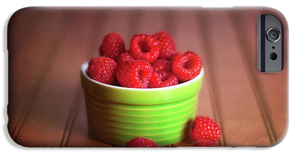 Red Raspberries Still Life IPhone 6s Case by Tom Mc Nemar