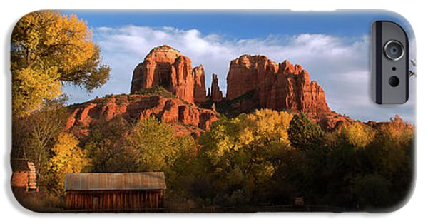 Red Rock Autumn IPhone Case by Mikes Nature