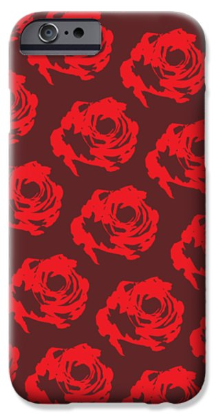 Red Rose Pattern IPhone 6s Case by Cortney Herron