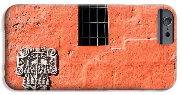 Red Santa Catalina Monastery Wall IPhone Case by Jess Kraft
