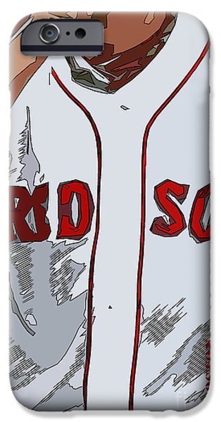 Red Sox Baseball Team White And Red IPhone Case by Pablo Franchi