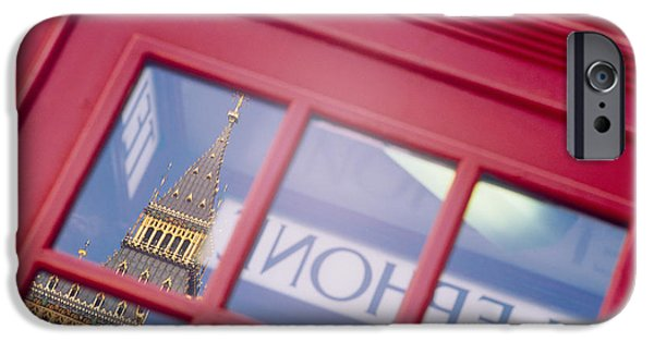 Reflection Of A Clock Tower IPhone Case by Panoramic Images