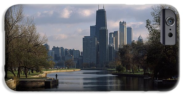 Reflection Of Buildings In A Lagoon IPhone Case by Panoramic Images