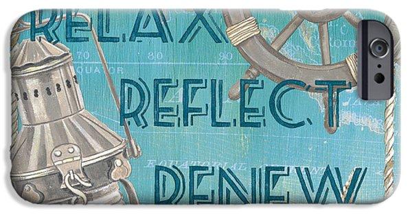 Relax Reflect Renew IPhone Case by Debbie DeWitt