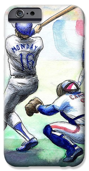 Rick Monday IPhone Case by Mel Thompson