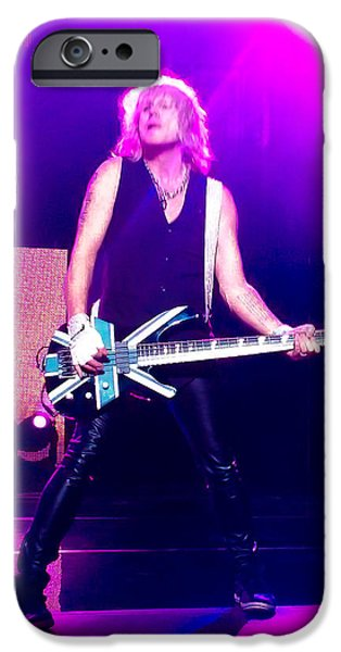 Rick Savage Of Def Leppard IPhone Case by David Patterson