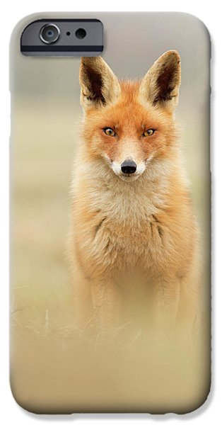 Right Into Your Soul - Red Fox IPhone Case by Roeselien Raimond