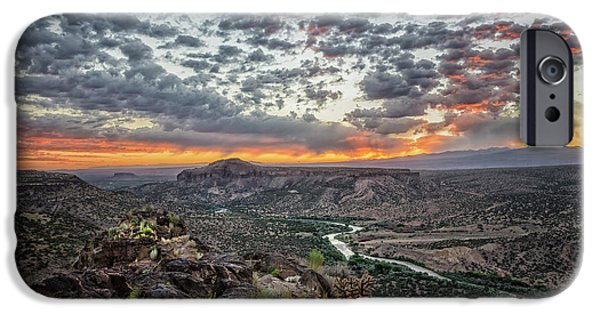 Rio Grande River Sunrise 2 - White Rock New Mexico IPhone Case by Brian Harig