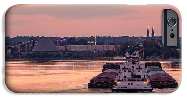 River Bend Barge IPhone Case by Andrea Kappler