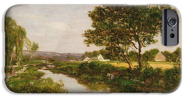 River On The Outskirts Of Quimper IPhone Case by Eugene Louis Boudin