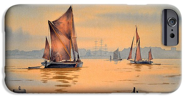 River Thames At Greenwich London IPhone Case by Bill Holkham