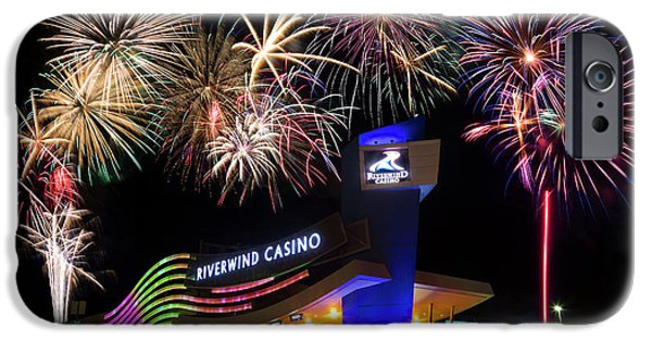 Riverwind Fireworks II IPhone Case by Ricky Barnard