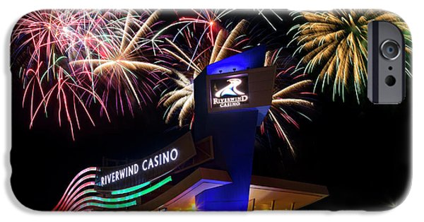 Riverwind Fireworks IPhone Case by Ricky Barnard