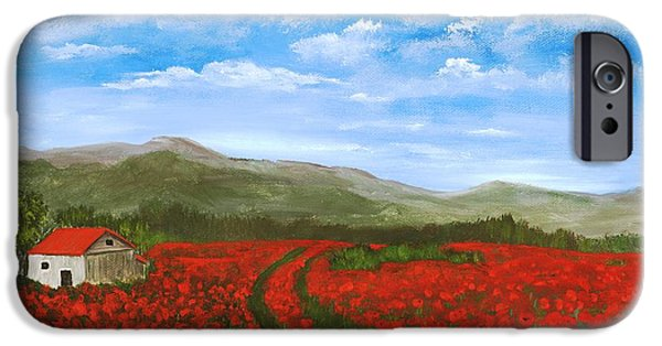 Road Through The Poppy Field IPhone Case by Anastasiya Malakhova